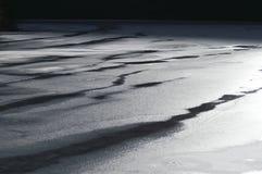 покрывает поверхность снежка озера Стоковая Фотография RF