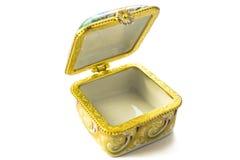 Покрынная эмалью коробка Стоковое Изображение