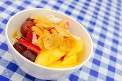покрынный салат плодоовощ хлопьев здоровый Стоковая Фотография