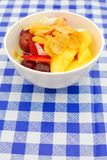 покрынный салат плодоовощ хлопьев здоровый Стоковое фото RF