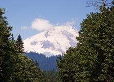 покрынный снежок горы вулканический Стоковое Изображение