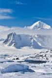 покрынный снежок гор стоковое фото rf