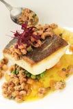 Покрытая еда рыб Стоковые Фотографии RF