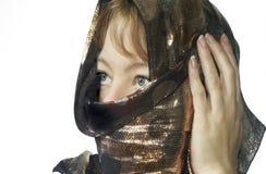 покрытая женщина стоковые изображения rf