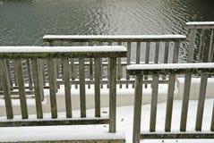 покрытая лестница снежка Стоковые Фотографии RF
