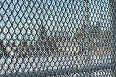 Покрытая льдом загородка звена цепи Стоковое фото RF