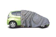 Покрытая половина автомобиля Стоковая Фотография