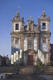 покрытая церковь azulejos Стоковые Изображения