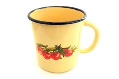 Покрытая эмалью чашка Стоковое Изображение RF