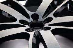 Покрытие порошка черного диска колеса стоковое изображение rf