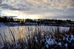 покрытое озеро льда Стоковая Фотография RF