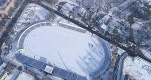 покрытое Снег футбольное поле акции видеоматериалы