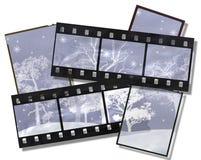 покрытые валы снежка пленки Стоковая Фотография