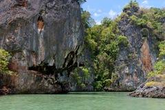 Покрытые джунгли скал известняка Стоковые Изображения RF