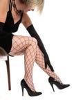 покрытые ноги fishnet Стоковые Фотографии RF