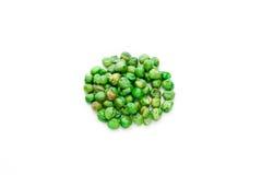 Покрытые солью горохи жаркого зеленые Стоковые Изображения RF