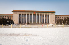 покрытый квадрат tiananmen снежка Стоковое фото RF