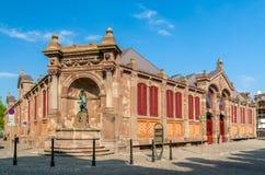 Покрытый рынок Кольмара, Эльзаса, Франции Стоковая Фотография RF