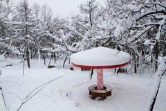 покрытый Снег ландшафт Beishan Montain Стоковая Фотография RF