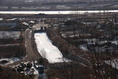 покрытый Снег ландшафт стоковые фото
