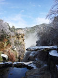 покрытый снежок ландшафта стоковое изображение