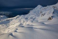 покрытый снежок горы Стоковое фото RF