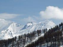 покрытый снежок гор Стоковые Фотографии RF