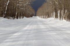 покрытый снежок дороги стоковые фотографии rf
