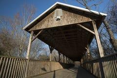 покрытый footbridge Стоковое фото RF