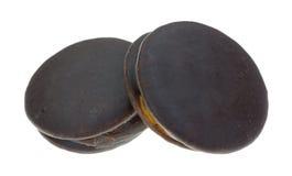 2 покрытых шоколадом торта закуски Стоковое фото RF