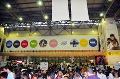 покупатель 2008 gitex brandings знамени стоковое изображение rf