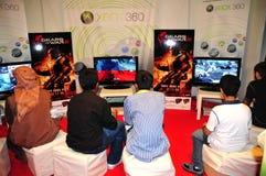 покупатель gitex 2008 приезжанный игр новый стоковое изображение rf