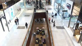 Покупатели на моле Дубай, Дубай Объединенных эмиратах сток-видео