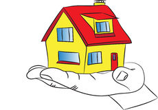 Покупать ваш собственный дом Стоковое Изображение