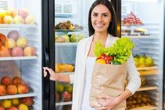 Покупать самые свежие продукты Стоковое Изображение