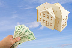 покупая дом мечты Стоковое фото RF