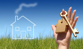 покупая дом принципиальной схемы Стоковые Изображения RF