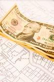 покупая дом с плана Стоковое Фото