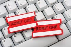 покупая он-лайн билеты Стоковая Фотография