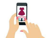 Покупая платье иллюстрация штока