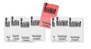 Покупая штраф за нарушение правил стоянки Стоковые Изображения RF