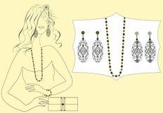 Покупая ювелирные изделия для девушок Стоковые Фотографии RF