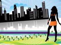 покупка города иллюстрация вектора