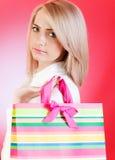 покупка девушки мешка Стоковая Фотография RF