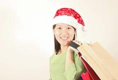 покупка девушки рождества Стоковые Фотографии RF