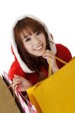 покупка девушки рождества Стоковое фото RF
