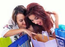 покупка девушки счастливая стоковое фото rf