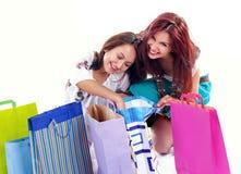 покупка девушки счастливая стоковая фотография rf