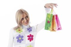покупка девушки Стоковые Изображения RF