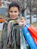 покупка девушки Стоковое фото RF